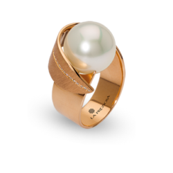 Ring Perle Brillanten Handarbeit