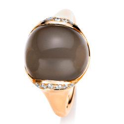Brillanten Mondstein Ring