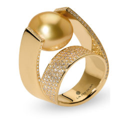 La Preziosa - ring with southsea pearl, gold, diamonds