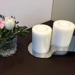 Kerzenständer groß, mit persönlicher Gravur und Kerzen