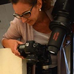 Manuela beim fotografieren