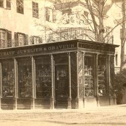 1878 - Historisches Foto des Jugendstilpavillons Juwelier Frühauf