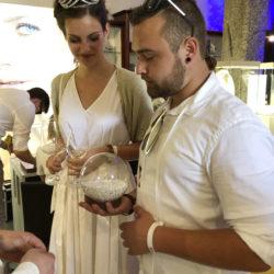 Miss Südtirol Felicia Gamper und Ihr Freund beim schätzen.