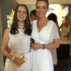 Schauspielerin Deborah Müller mit Tochter