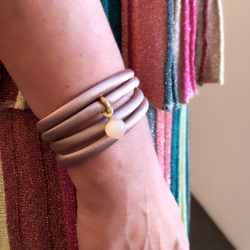 Seidenarmband in Rosé mit Sweet Drop