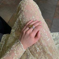 High Jewelry - Weißgoldring mit Goldberyll und Brillanten