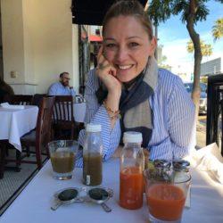 Maria Gamper beim Brunchen in Beverly Hills