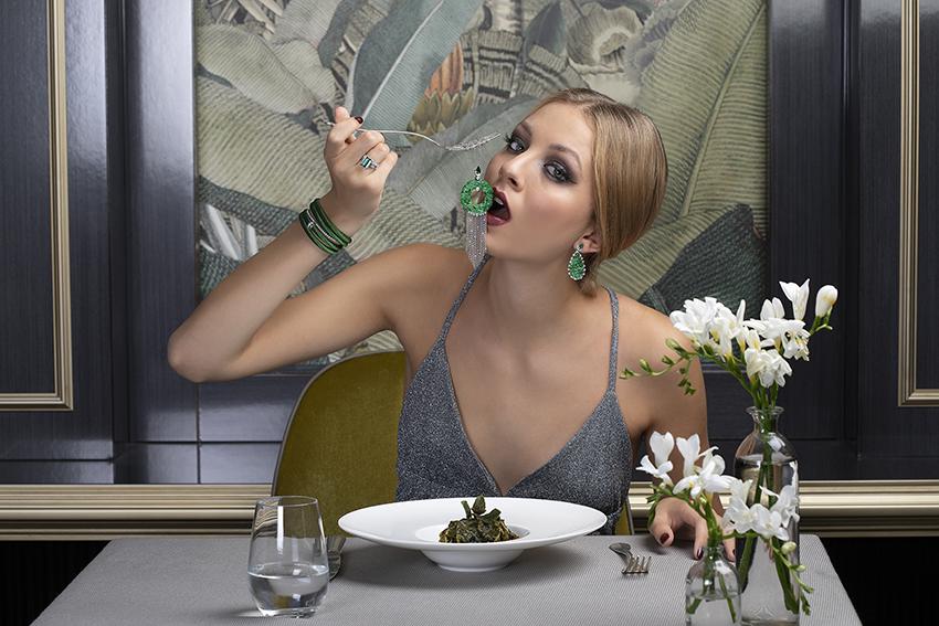 Juwelen Dinner Jadeschmuck